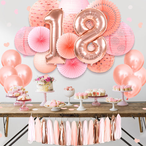 18th birthday decorations kit
