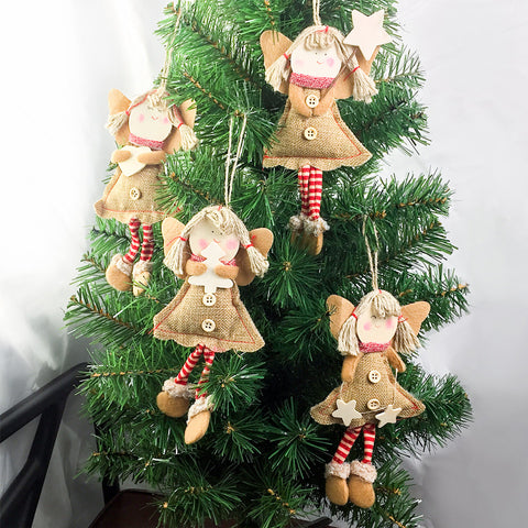 Image of Smiling-Angel-Tree-Ornaments