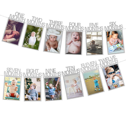 Image of 1st Birthday Photo Banner Garland | Nicro Party