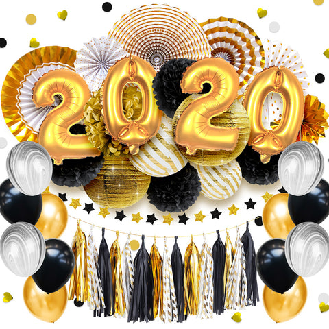 Image of 48 pcs/set 2020 New Year Gold Party Decorations | Nicro Party