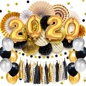 48 pcs/set 2020 New Year Gold Party Decorations | Nicro Party