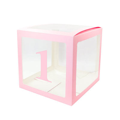Image of Alphabet Number Transparent Packing Name  DIY Letter Balloon Box