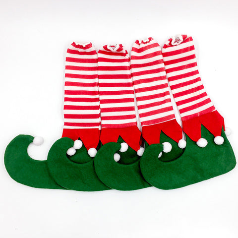 Image of 4 pcs/set Christmas Chair Foot Covers | Nicro Party