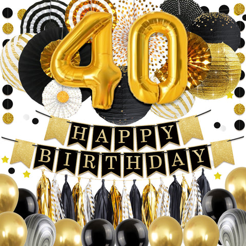 40th Birthday Party Decoration Kit