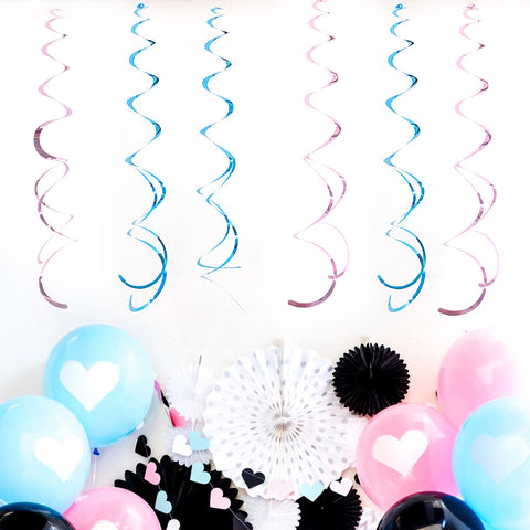 6 pcslot Spiral Tissue Tassel  Nicro Party