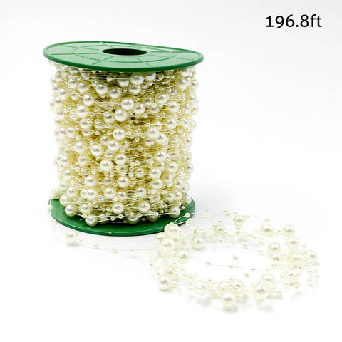 Image of 65 yard Artificial Pearls Beads Chain Garland | Nicro Party