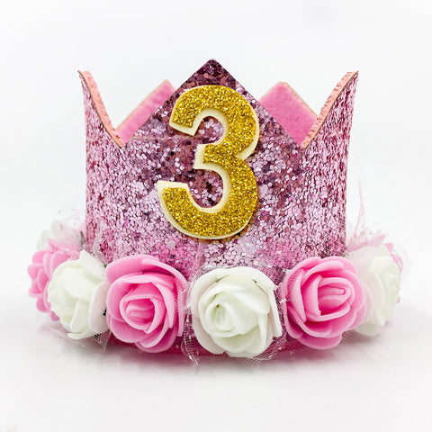 Image of Cute Pink 1st Girl Birthdy Hat | Nicro Party