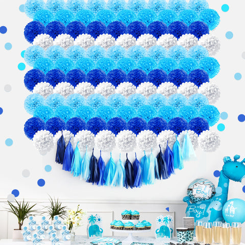 Blue Gradient Party Decoration Kit