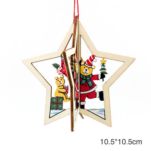 Image of Christmas 3D Wooden Pendants | Nicro Party