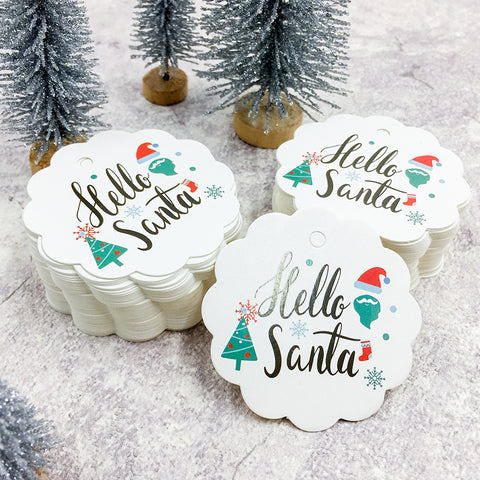 Image of 100 PCS Christmas Paper Tags | Nicro Party