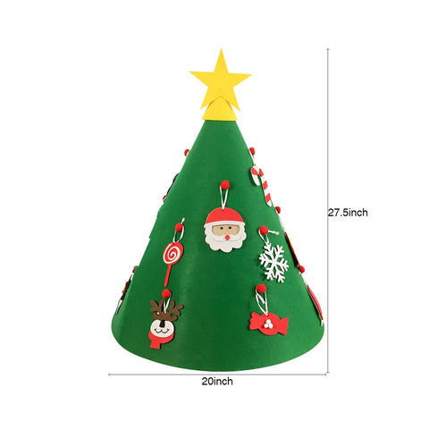 Image of DIY Felt Toddler Christmas Tree