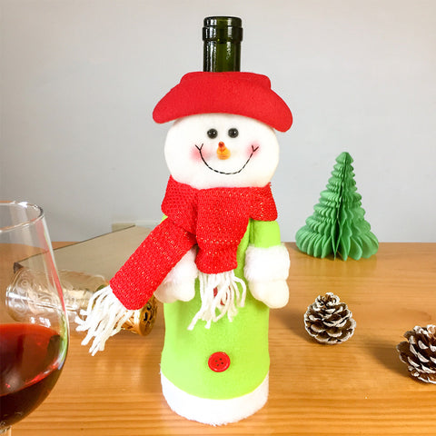 Image of Christmas Wine Bottle Cover