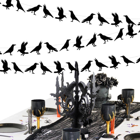 4 M Black Crow Paper Garland | Nicro Party