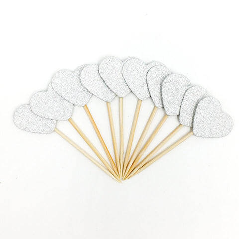 10 pcs/set Heart Cupcake Toppers | Nicro Party