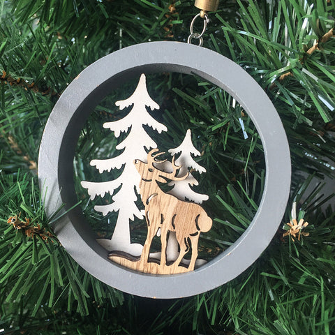 Image of Deer Wooden Christmas Pendants | Nicro Party