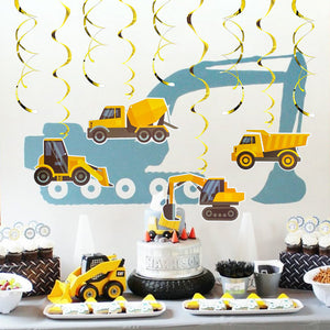 Excavator Truck Swirl Decorations | Nicro Party