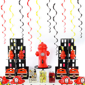 Firefighter Spiral Tassel Ornaments | Nicro Party