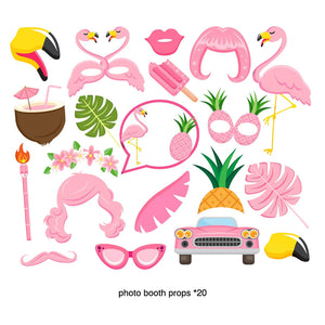 Flamingo photo props