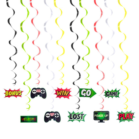 Image of Game Theme Spiral Ornaments | Nicro Party