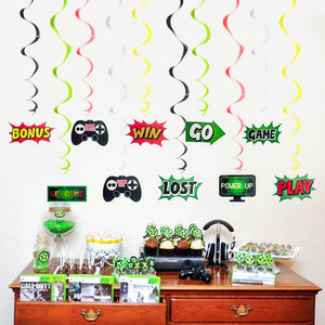 Game Theme Spiral Ornaments | Nicro Party