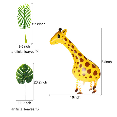 Image of Giraffe Forest Theme Party Kit