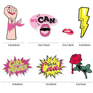15 Count Girl Power Theme Photo Booth Props | Nicro Party