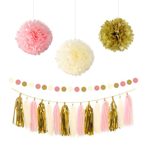 Gold Pink Beige Party Kit