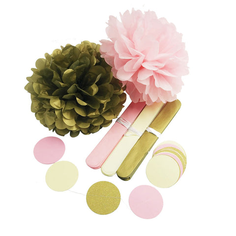 Image of Gold Pink Beige Party Kit