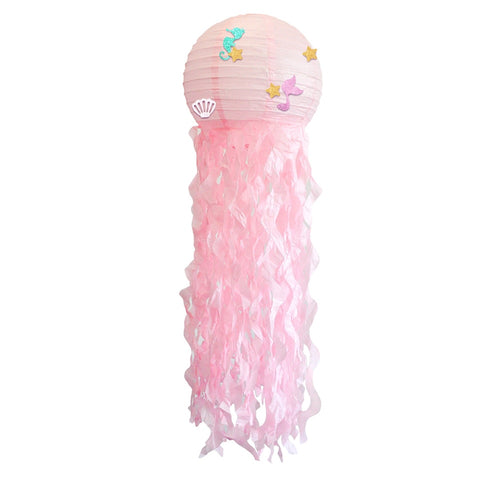 Image of 4 pcs/set Hanging Mermaid Jellyfish Lantern Party Decorations