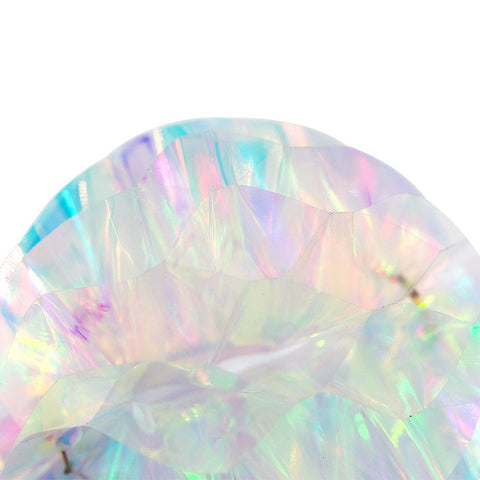 Image of Iridescent Rainbow  Honeycomb Ball pom pom