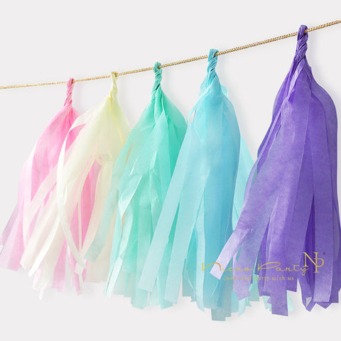 Unicorn Party Decorations Tissue Tassel Paper Garland