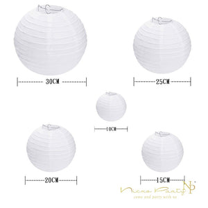 10 Pcs/Set White Paper Lanterns Set