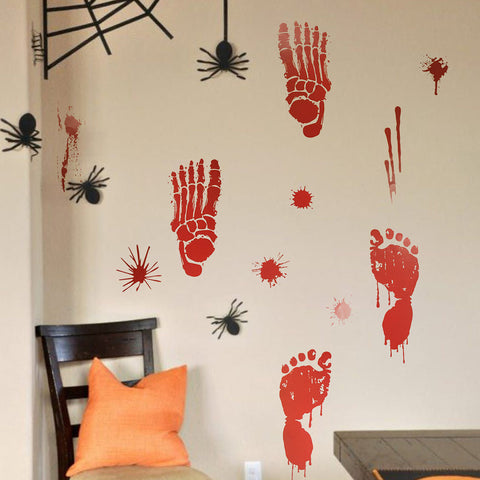 Halloween Blood Handprint Sticker | Nicro Party