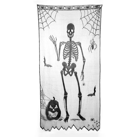 Image of Halloween Lace Window Curtain | Nicro Party