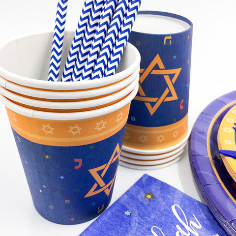 Hanukkah Holiday of Lights Party Paper Tableware | Nicro Party