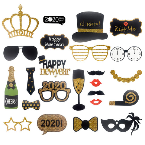 Image of Happy New Year Photo 2020 Booth Props | Nicro Party