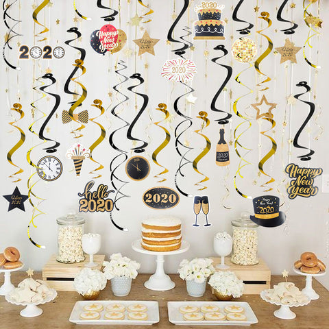 Hello 2020 Swirl Spiral Garland | Nicro Party