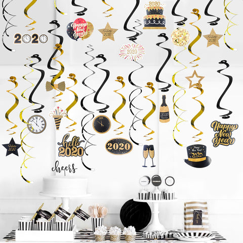 Image of Hello 2020 Swirl Spiral Garland | Nicro Party