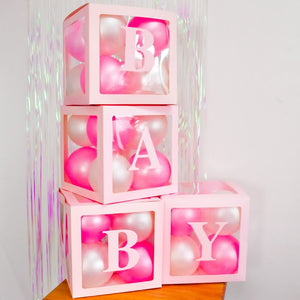 Alphabet Number Transparent Packing Name  DIY Letter Balloon Box