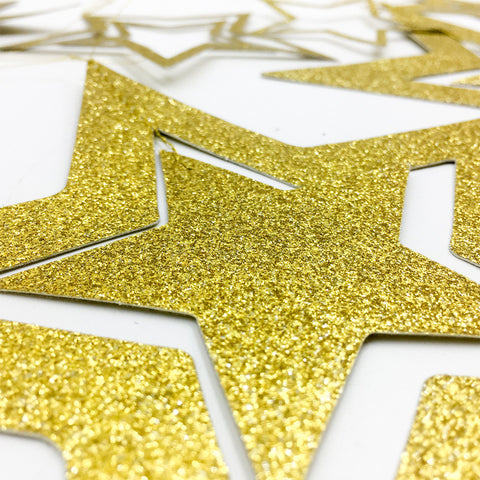 Hollow 3D Star Garland | Nicro Party