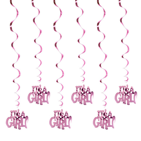 Image of It's A Boy It's A Girl Spiral Ornaments | Nicro Party
