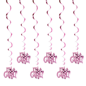 It's A Boy It's A Girl Spiral Ornaments | Nicro Party