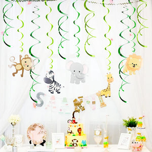 Jungle Theme PVC Foil Swirls Banner | Nicro Party
