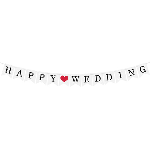 Just Married Banner Garland | Nicro Party