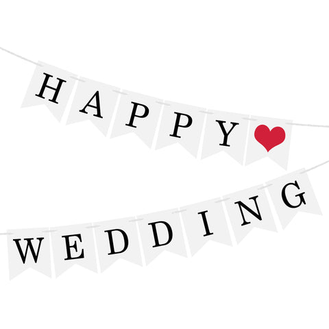Image of Just Married Banner Garland | Nicro Party