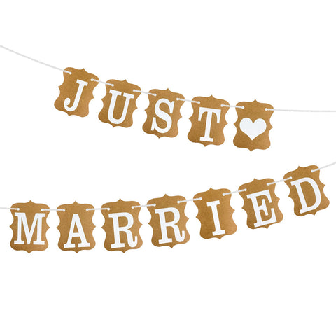 Image of Just-Married-Banner-Garland