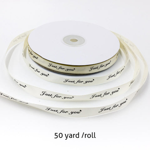 Image of 50 Yard Just For You Printed Ribbon | Nicro Party