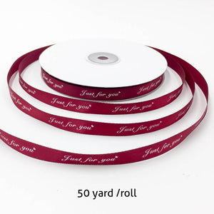 50 Yard Just For You Printed Ribbon | Nicro Party