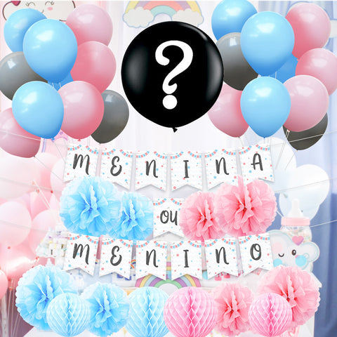 Menino ou Menina Gender Reveal Party Kit