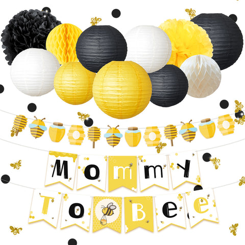 Mommy To Bee  Baby Shower Set
